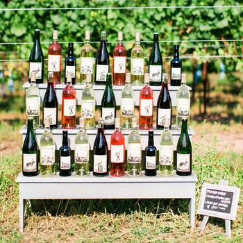 open bar wine bottles