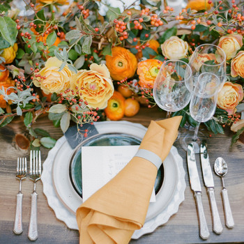 Orange place setting