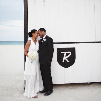 A Modern Black-and-White Destination Wedding in Miami