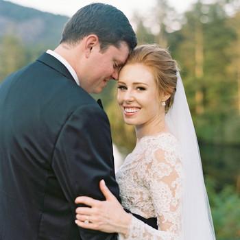 kathleen henry wedding couple hugging