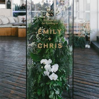 floral wedding sign
