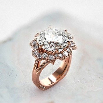 21 unique engagement rings youll love - Wedding Bands And Engagement Rings