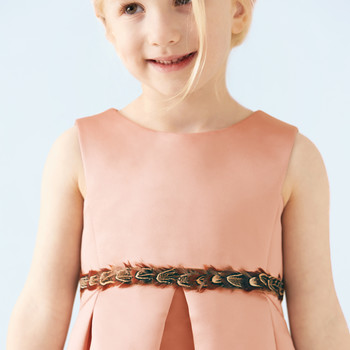 Feather Flower-Girl Belt
