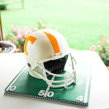football helmet groom's cake