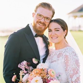 lauren and daniel wedding couple
