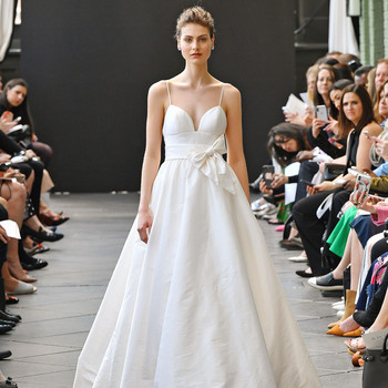 nouvelle amsale wedding dress spring 2019 spaghetti-strap ball gown
