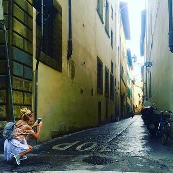 Anna Camp on Honeymoon in Italy