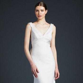 anne barge flowing sheath wedding dress fall 2019