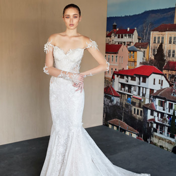 galia lahav off the shoulder long sleeves wedding dress fall 2019