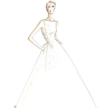 lela rose wedding dress sketch
