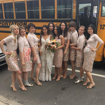 Lena Dunham Serves as a Bridesmaid—and Her Outfit Is So Cool