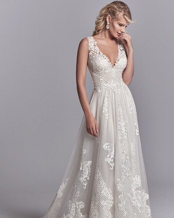 sottero and midgley oliver v-neck gown