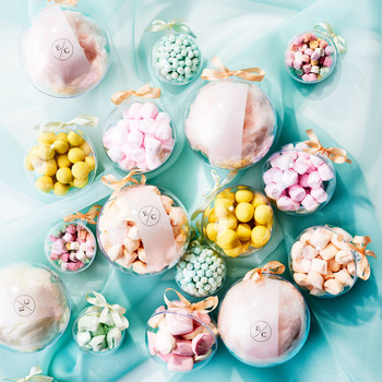 candy filled ornament favors