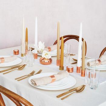 Copper Candle Centerpieces