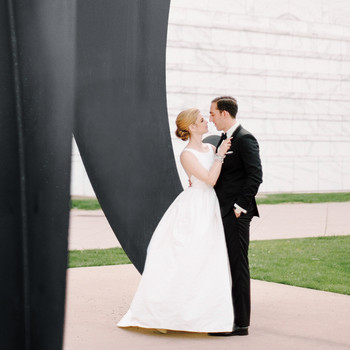 A Modern Black-and-White Wedding in Detroit