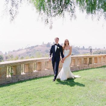 gloria jordan wedding couple walking