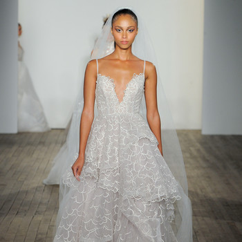 haley paige fall 2019 spaghetti strap v-neck sheath wedding dress