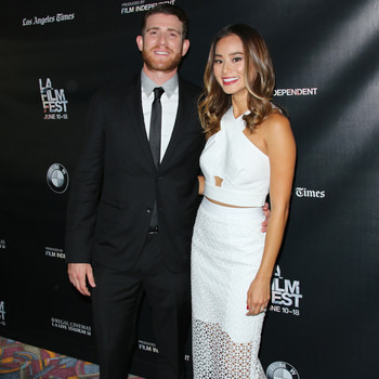 Jamie Chung and Bryan Greenberg recessional