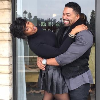 Jennifer Hudson and David Otunga hugging
