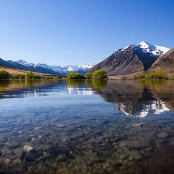Ahuriri River in New Zealand