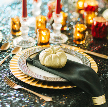 pumpkin place setting