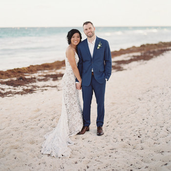 sophie jordan wedding couple on beach