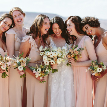 ashley basil wedding bridesmaids with bride