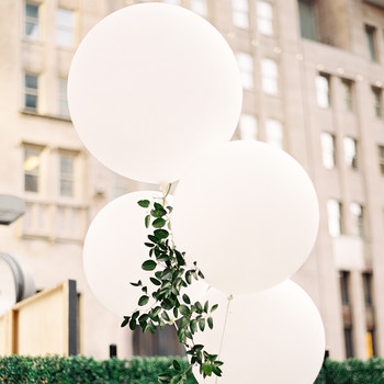 white wedding balloons
