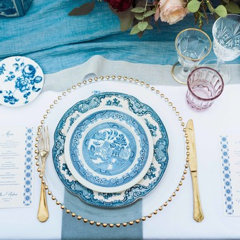 blue placesetting