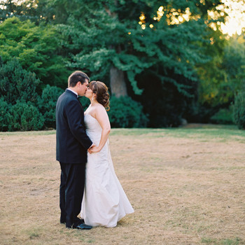 A Formal Black-and-White Outdoor Wedding in Nashville, Tennessee