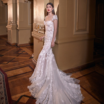 galia lahav cap sleeves embellished trumpet wedding dress spring 2020
