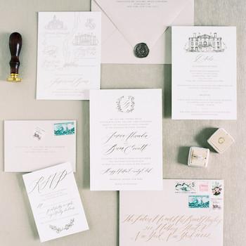 jessica brian wedding stationary