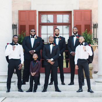 niara allen wedding groomsmen