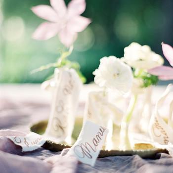 plant wedding favors flowers mini vases escort cards