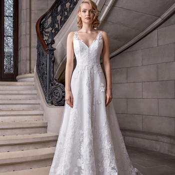 sareh nouri v-neck sheath wedding dress spring 2020