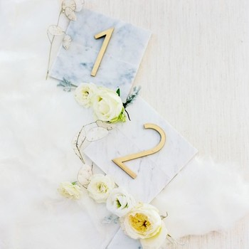 wedding table numbers marble marvels