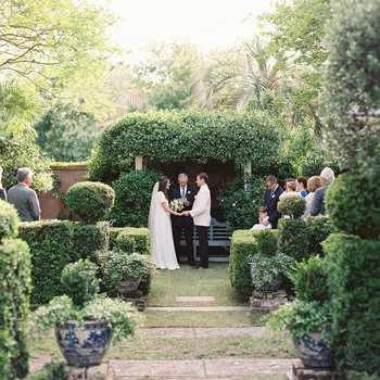 beverly steve wedding ceremony in garden