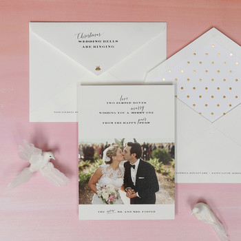 Darcy's Diary: Check Out These Newlywed Holiday Cards, Cool Calligraphy Kits, and Adorable Bridesmaid Beauty Bags