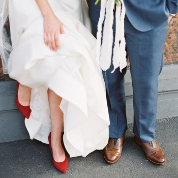 wedding couple shoes