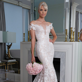 Legends Romona Keveža off the shoulder trumpet wedding dress fall 2019