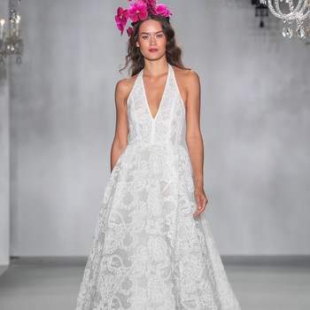anne barge halter v neck lace wedding dress fall 2020