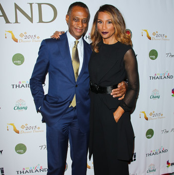"""Beverly Johnson and Brian Maillian on the red carpet for The Tourism Authority Of Thailand """"Threads Of Thailand"""""""