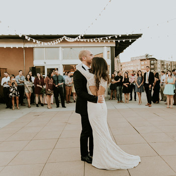 brewery wedding venues outdoor first dance