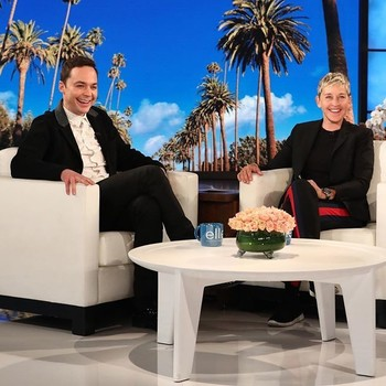 Jim Parsons and Ellen DeGeneres