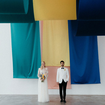kristen jonathan wedding couple fine art installation