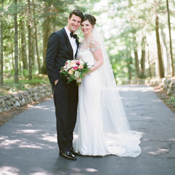 Sara and Nick's Traditional-Meets-Rustic Wisconsin Wedding