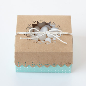 Wedding Favor Box with Cutout Details