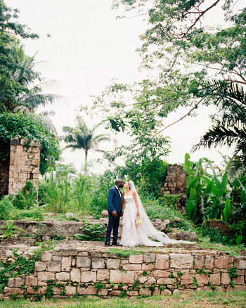 porsha terry wedding jamaica kiss outdoor