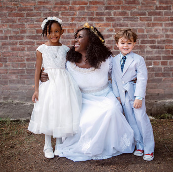 vasthy mason wedding bride with kids