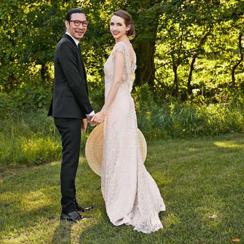 Vintage weddings martha stewart weddings avril quy wedding new york couple trees green junglespirit Gallery